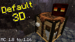 Default 3D Minecraft Texture Pack