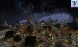 Underground Cave Town Minecraft