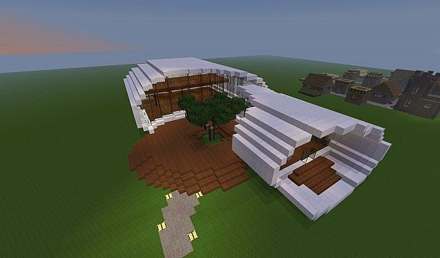 Modern house shell house minecraft project for Minecraft exterior wall design