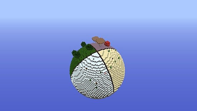 how to make a sphere in vannila minecraft