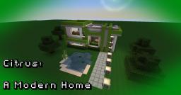 Citrus: A Modern Home Minecraft Map & Project