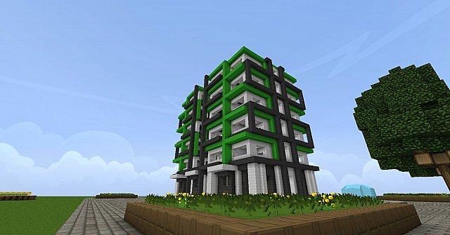 Modern hotel minecraft project for Moderne hotels