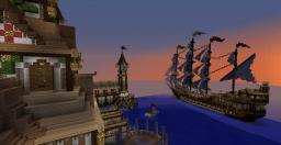 Fellport Fantasy Castle & Sissel Sail Ship (WORLD SAVE ADDED) Minecraft Map & Project