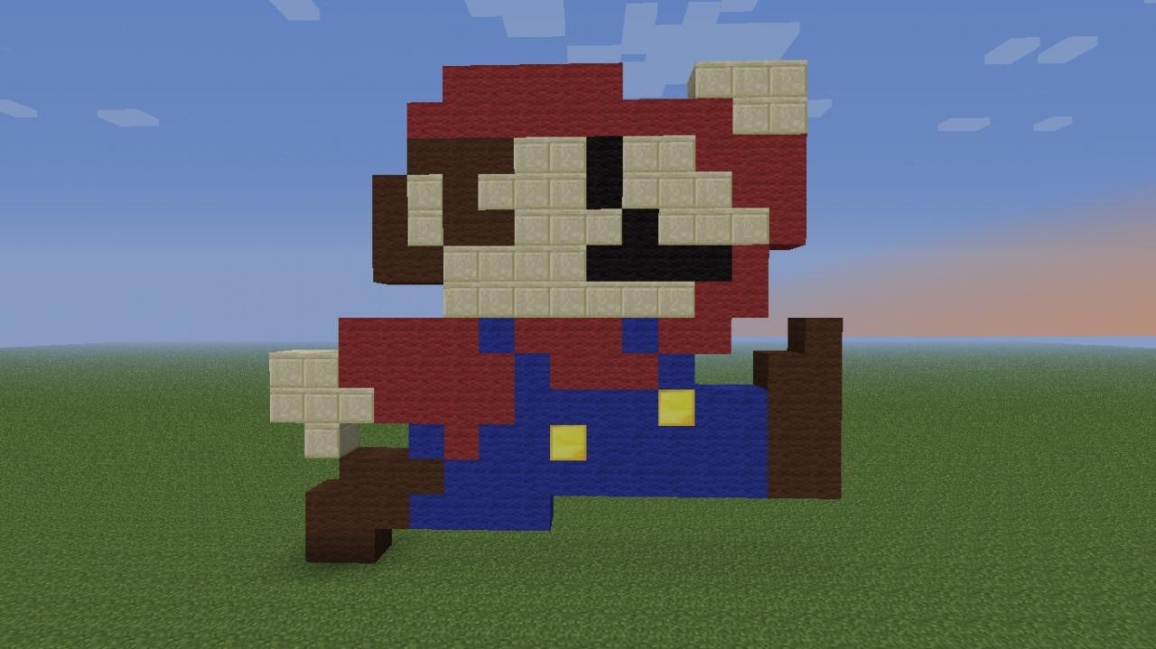 pixel art mario minecraft blog