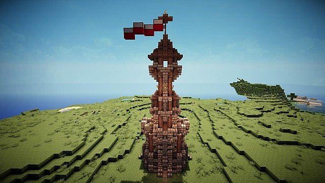 Minecraft Advanced Medieval Tower Design Minecraft Project
