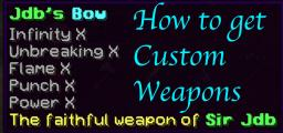 How to make custom weapons