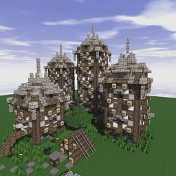 Residence Of The Four Lantern Minecraft Map & Project