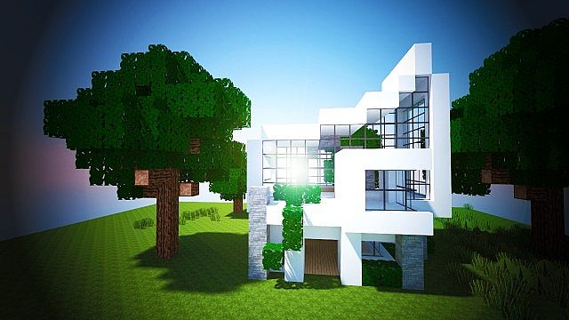 Big modern house minecraft tutorial house modern for Big modern house tutorial