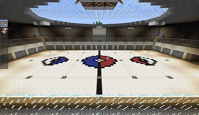 minecraft how to build a pokemon stadium
