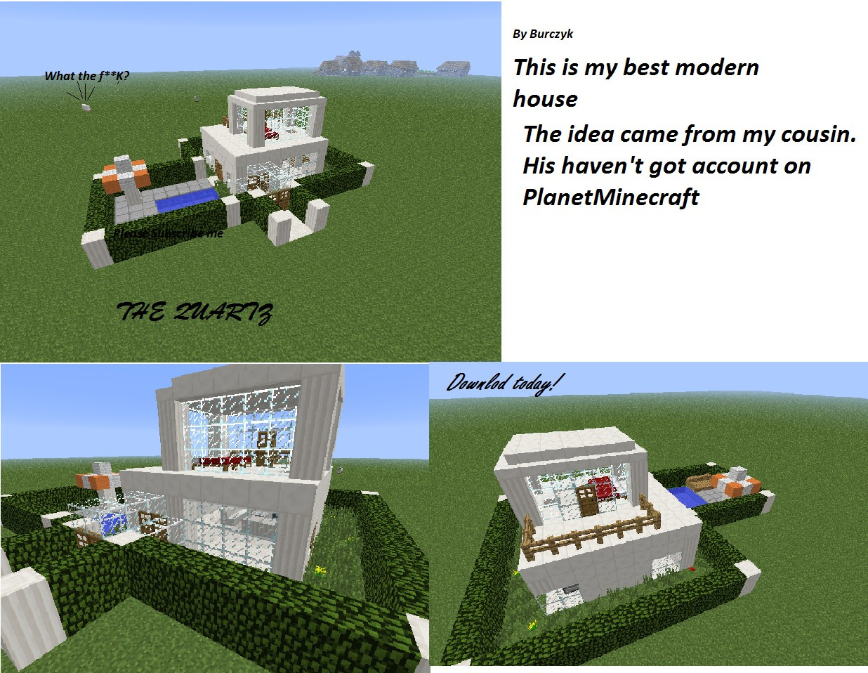 Modern houses 3The Quartz Minecraft Project