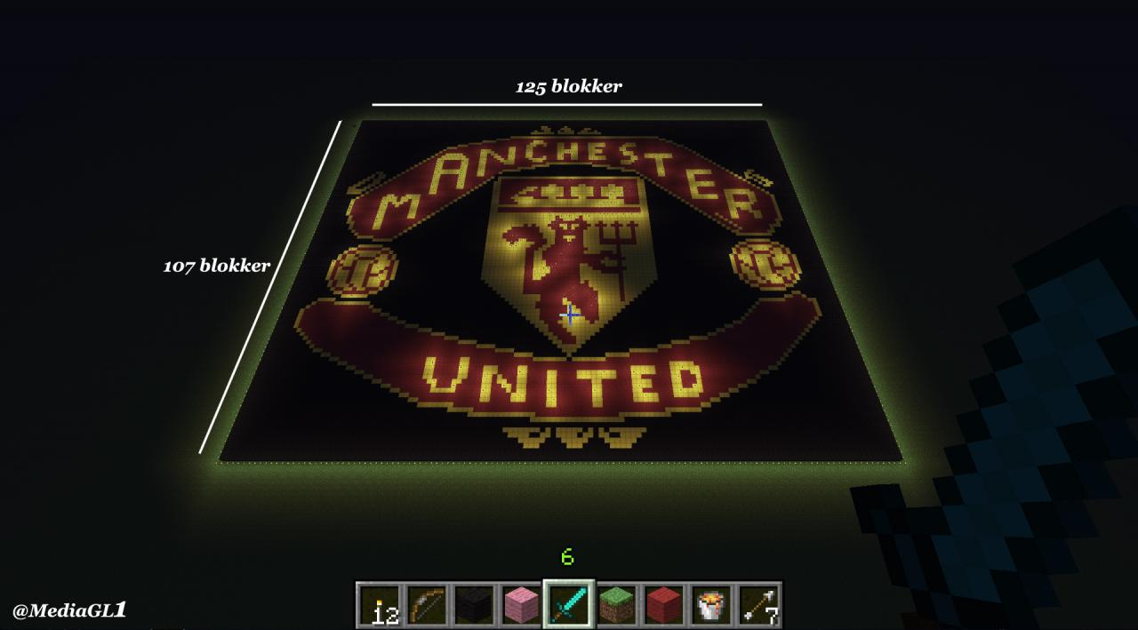 Manchester united logo minecraft project manchester united logo published on apr 2 2013 4213 951 am voltagebd Image collections