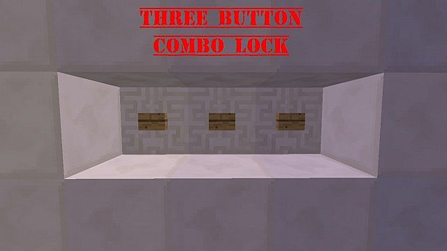 how to make a button combination lock in minecraft