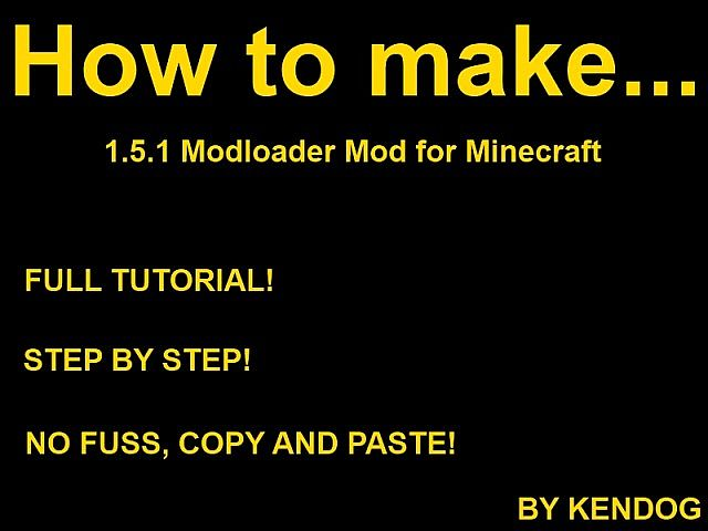 how to make a minecraft mod tutorial