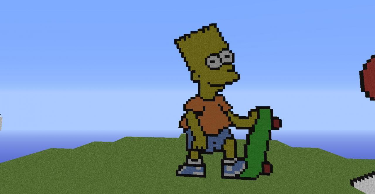 Bart Simpson Pixel Art Minecraft Project