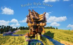 A Nordic/Medeival Style House Minecraft Map & Project