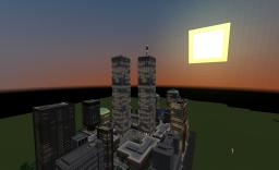 World trade center and manhattan 1:2 Minecraft