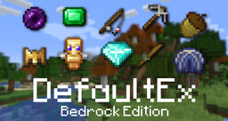 DefaultEx: Bedrock Edition Minecraft Texture Pack