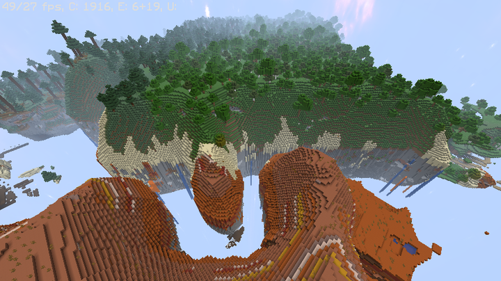 Better Sky Island  all biomes will generate