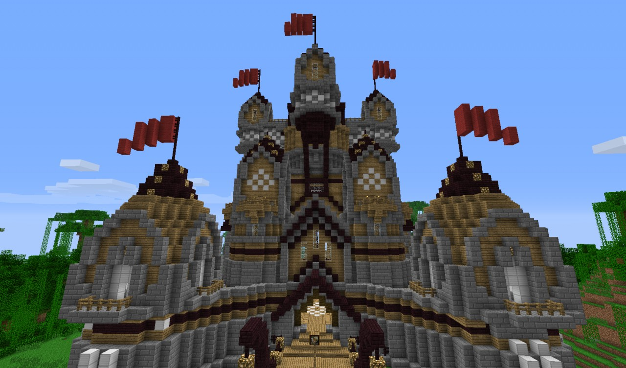 minecraft how to build a big castle step by step