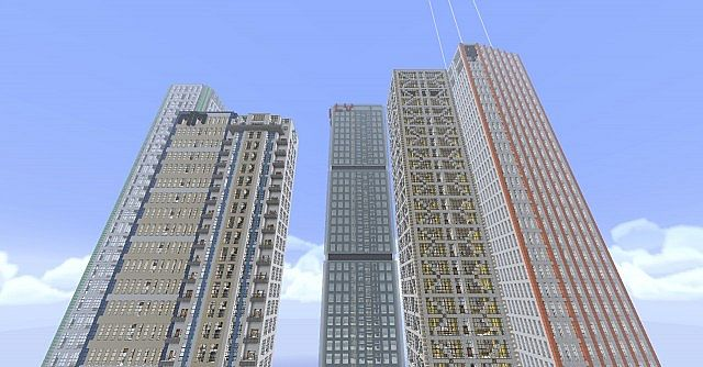 Various Skyscrapers on the server