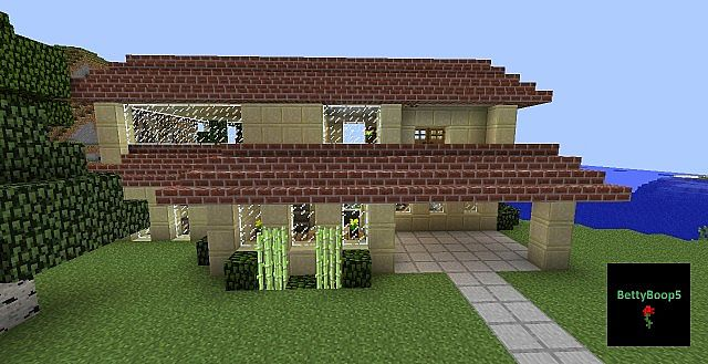 House Large Sandstone Brick Roof Minecraft Project