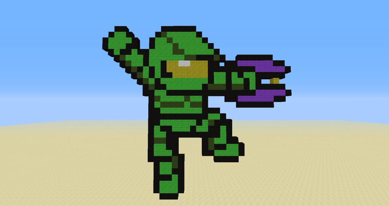 1st pixel art master chief minecraft project