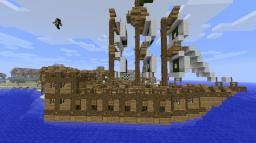 Dreimaster Segelschiff Minecraft Map & Project