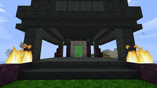 The new quartz blocks. The purple ones on the side are the ores.