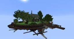 Steampunk Inspired Flying TownWIP Minecraft Map & Project