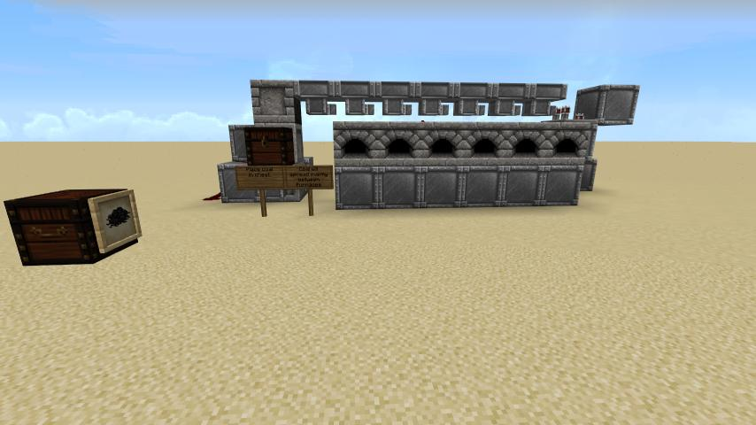 Automatic Furnace Bank Feeder Minecraft Project