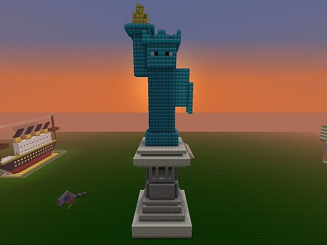 how to make a small steve statue in minecraft