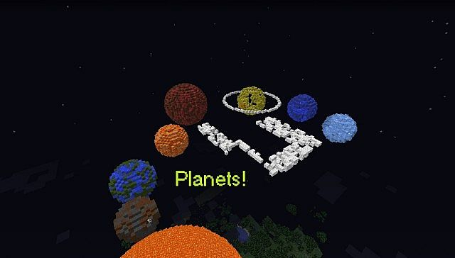 9 Planets & The Milky Way ;) Minecraft Project