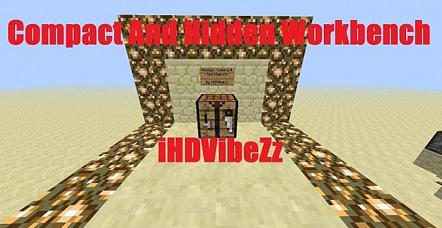 how to make a hidden workbench in minecraft