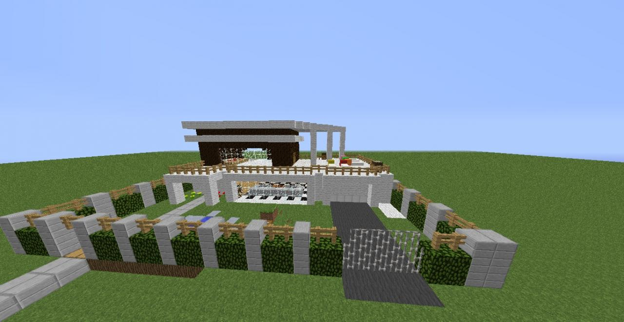 Modern day house Minecraft Project
