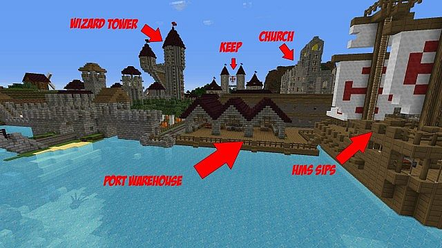 Sjins lets build a kingdom world minecraft project port and hms sips gumiabroncs Gallery