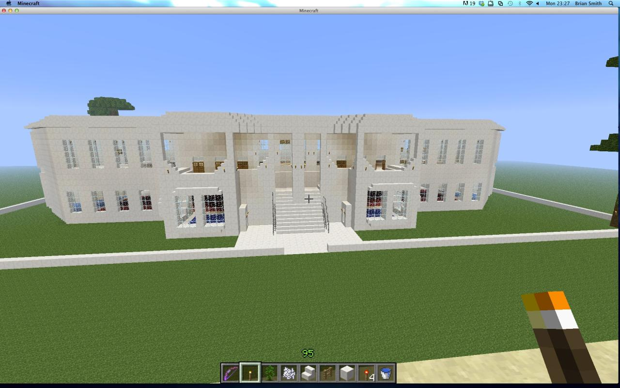 Quartz colonial house minecraft project for What makes a mansion