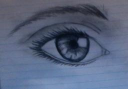 My Drawings on Realistic Eyes +Art Minecraft Blog