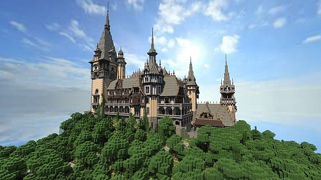 Vitruvian Castle (Vitruvian City) Minecraft Project