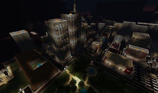 The servers demolished city.