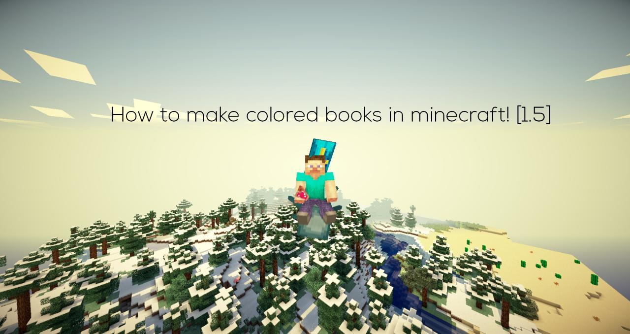 How To Make A Book Minecraft Xbox : How to make colored books in minecraft murderthestout