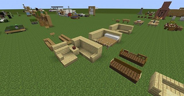 Jeffries garden supplies: Minecraft outdoor furniture