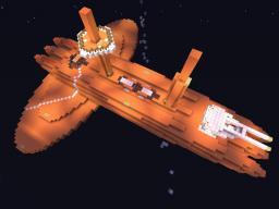 Orange Ship Minecraft Project