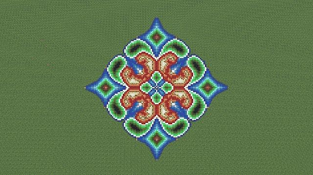 My First Pixel Art Flower Shaped Thingy on Minecraft Wall Designs