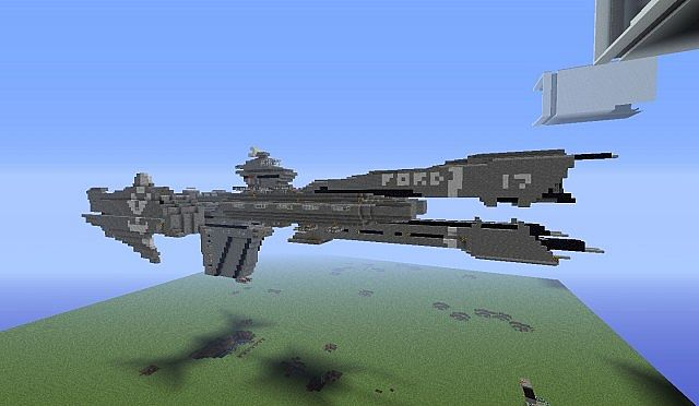 Halo Reach Unsc Frigate With Working Mac Tnt Cannon