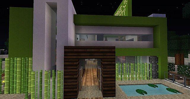 Spearmint Modern House Minecraft Server City