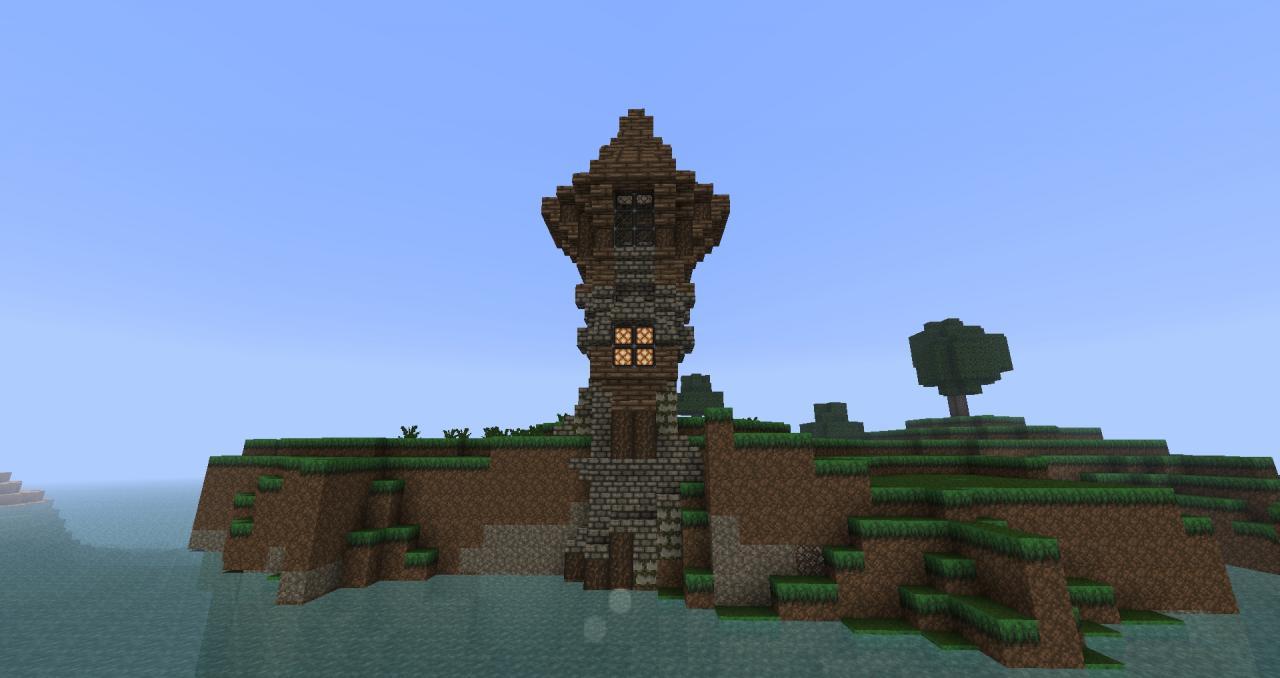 Fantasy Hillside Estate Minecraft Project