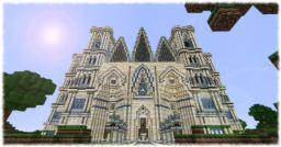 {Gothic} Four Saints Cathedral Minecraft Project