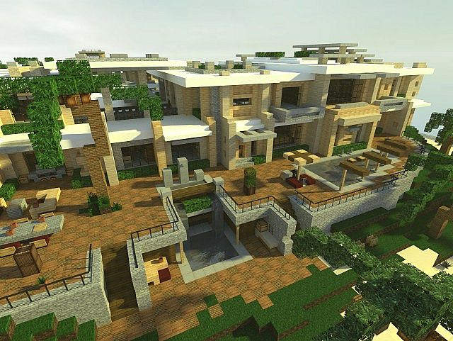 Modern mansion 4 series 1 minecraft project for Big modern houses on minecraft