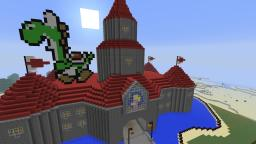 Princess Peach Castle N64 Version Minecraft Project
