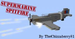 Supermarine Spitfire - WWII Fighter Plane Minecraft Map & Project